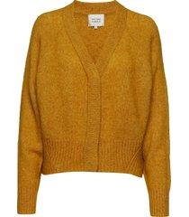 brook knit boxy cardigan stickad tröja cardigan gul second female
