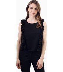 blusa juanita sin mangas negra jacinta tienda