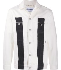 etudes guest denim jacket - white