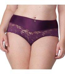 calcinha alta mais renda beringela - 574.023 marcyn lingerie alta roxo