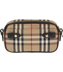 burberry detachable strap checked shoulder bag