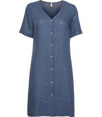 pzbianca dress knälång klänning blå pulz jeans