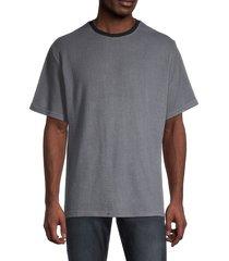 hyden yoo men's hacci ringer t-shirt - anthracite - size m