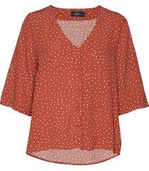 délia blouse blouses short-sleeved brun morris lady