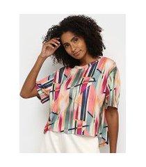 camiseta colcci estampada vertical feminina