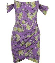 giuseppe di morabito floral print off-shoulder dress
