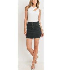 women's button fly skirt