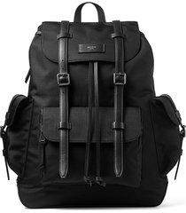 jimmy choo wixon multi-pocket backpack - black