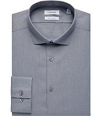 calvin klein blue stripe slim fit dress shirt