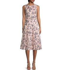 tommy hilfiger women's floral-print a-line dress - powder pink - size 12
