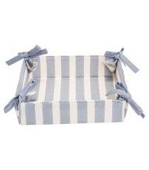 cesta de pão striped 20 cm x 20 cm