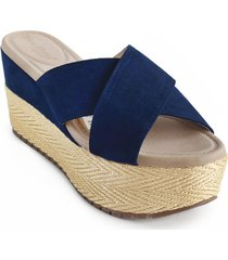 priceshoes sandalia confort dama 462jizaazul