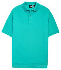 traveler collection traditional fit short-sleeve pique men's polo shirt - big & tall