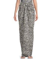 zadig & voltaire women's leopard wedge sarong - black white