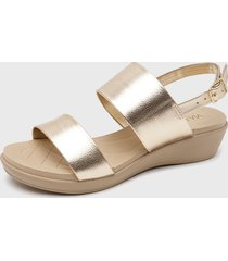 sandalia dorado via uno