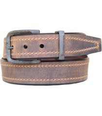 lejon men's bronx oil tanned harness leather casual jean belt