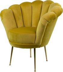 fotel żółcień cytrynowa tapicerowany lux-3