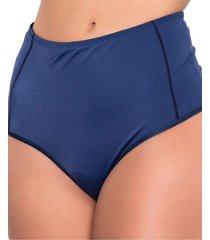calcinha click chique biquãni cintura alta compressã£o azul - azul - feminino - dafiti