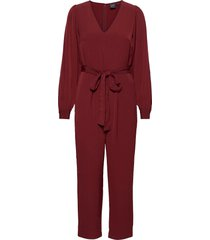 v-neck jumpsuit jumpsuit rood gap