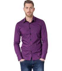 camisa violeta vinson rouge