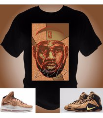 lebron james 12 x cork t-shirt made to match lebron cork shoes