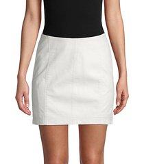 modern femme mini denim skirt
