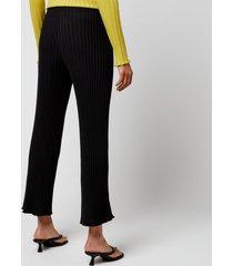 simon miller women's adler wide crop pants - black - m