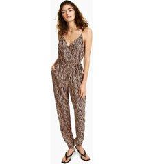 bar iii zebra-print jumpsuit, created for macy's