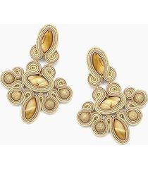 kolczyki żyrandole - złote, barokowe