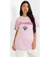 petite los angeles t-shirt, lilac