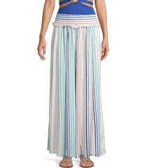 surf gypsy women's stripe wide-leg pants - candy stripe - size m