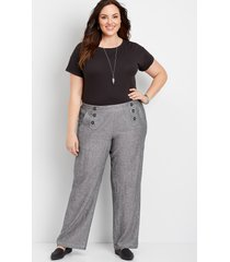 maurices plus size womens high rise wide leg linen sailor pants