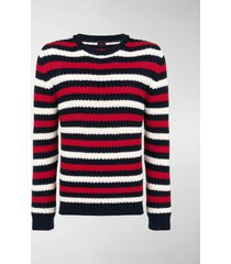 mp massimo piombo striped chunky sweater
