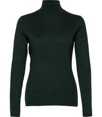lana roll neck knit turtleneck polotröja grön minus