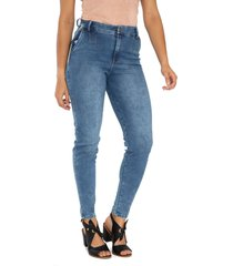 jeans bota tubo imitacion bolsillos