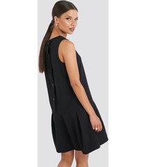 trendyol sleeveless flywheel mini dress - black