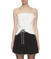 'cavalla' deconstructed panel corset top