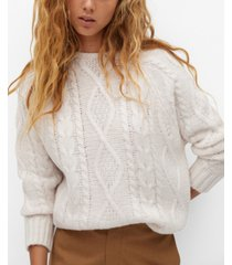 mango women's back bow sweater