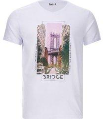 camiseta hombre bridge color blanco, talla m