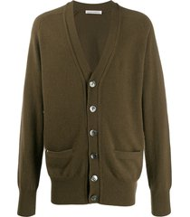 extreme cashmere longline knit cardigan - green