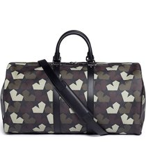 'star camo' print duffel bag