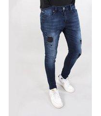 skinny jeans gabbiano denim ultimo jeans dark blue destroyed