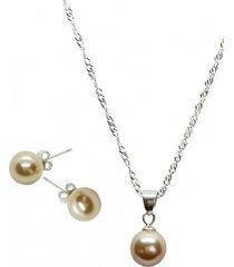 conjunto con perla swarovski damasco joyas montero
