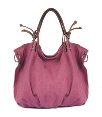 tela donna con vera pelle hobos borsa borsa a tracolla borsa
