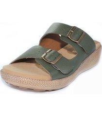 sandalia confort verde burana 965-027