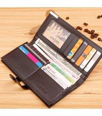 billetera, cartera tejida del monedero del botón de-marrón