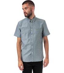 mens regular fit short sleeve oxford cotton shirt