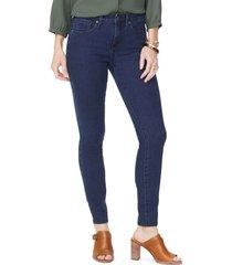 petite women's nydj ami high waist ankle super skinny jeans, size 8p - blue