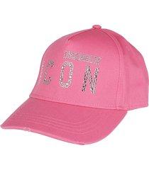 dsquared2 pink cotton cap