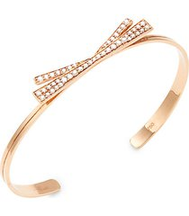 origami 18k rose gold & diamond bow cuff bracelet